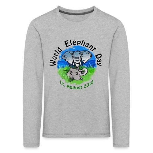 World Elephant Day 2018 - Kinder Premium Langarmshirt