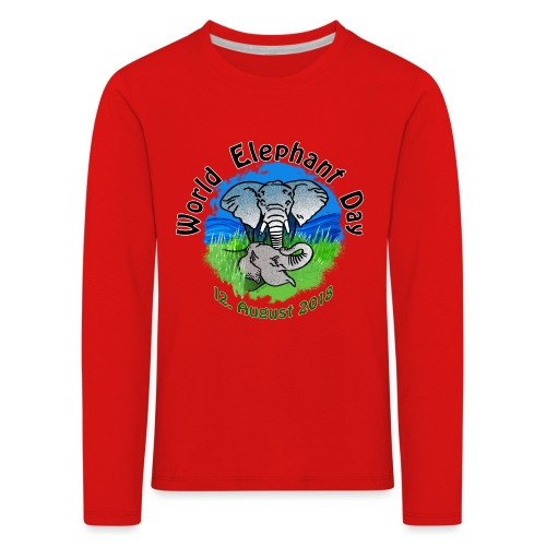 World Elephant Day 2018 - Kinder Premium Langarmshirt