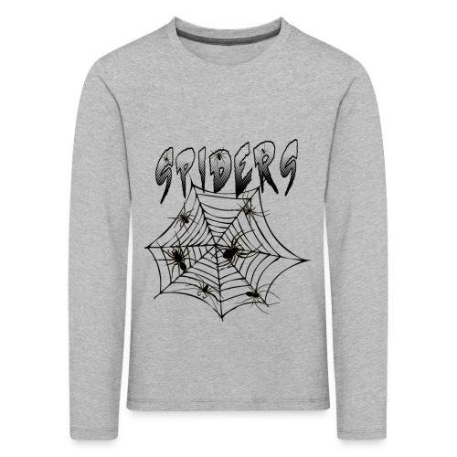 Spiders - Lasten premium pitkähihainen t-paita
