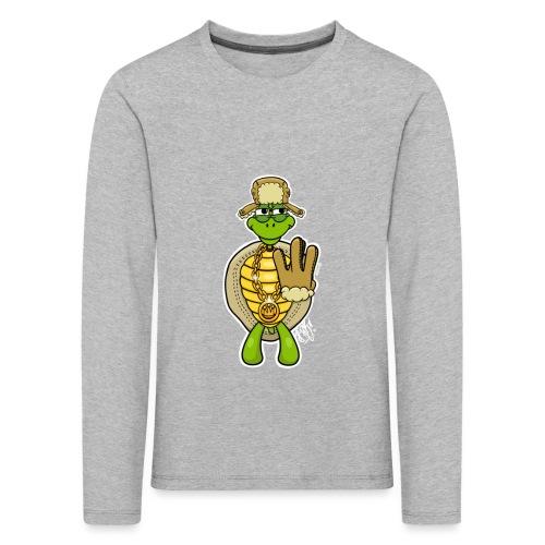 Winter West Coast Schildkröte / Hip-Hop Turtle - Kinder Premium Langarmshirt
