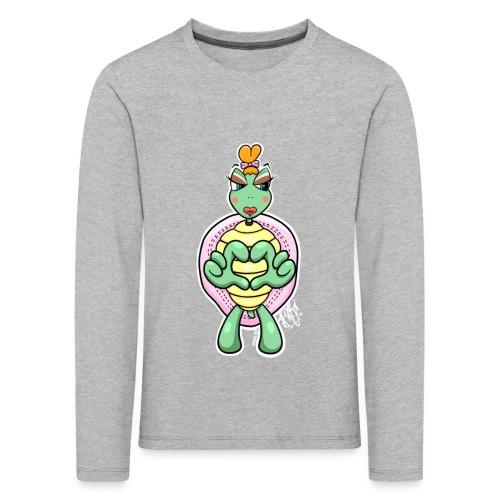 Girlie Turtle/ Schildkröte - Kinder Premium Langarmshirt