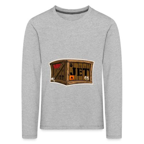 Jet Cartoon Wood Box - Kinder Premium Langarmshirt