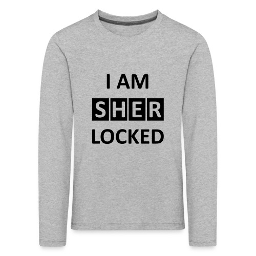 I AM SHERLOCKED - Kinder Premium Langarmshirt