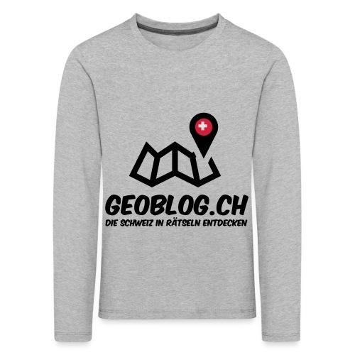 Logo+Schriftzug-hoch - Kinder Premium Langarmshirt
