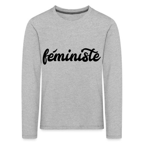 féministe - T-shirt manches longues Premium Enfant