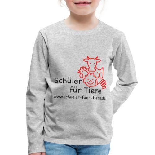 Logo Farbe (2x) - Kinder Premium Langarmshirt
