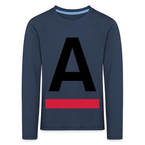 Alliansfritt Sverige A logo 2013 Färg - Långärmad premium-T-shirt barn