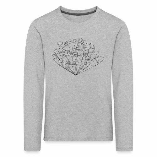 wild style ver01 Trick Aod - Børne premium T-shirt med lange ærmer
