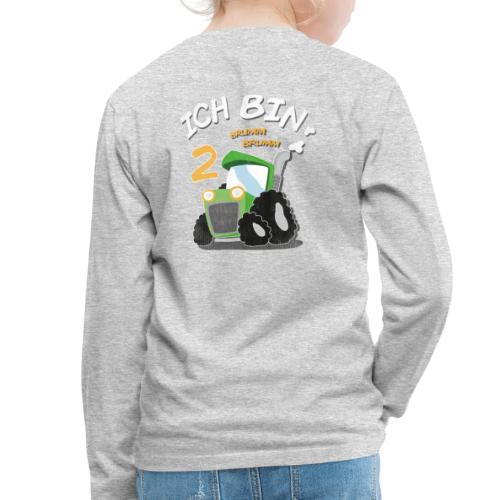 Kinder 2. Geburtstags Traktor Junge Shirt Ich bin - Kinder Premium Langarmshirt