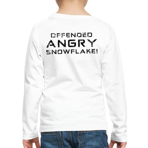 Black Negant logo + OFFENDED ANGRY SNOWFLAKE! - Børne premium T-shirt med lange ærmer