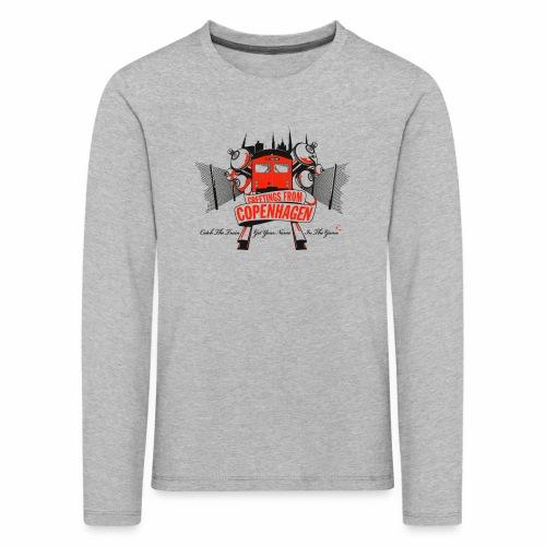 Greetings from CPH ver01 - Børne premium T-shirt med lange ærmer