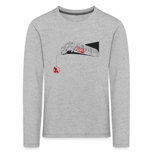 2wear Trains ver01 - Børne premium T-shirt med lange ærmer