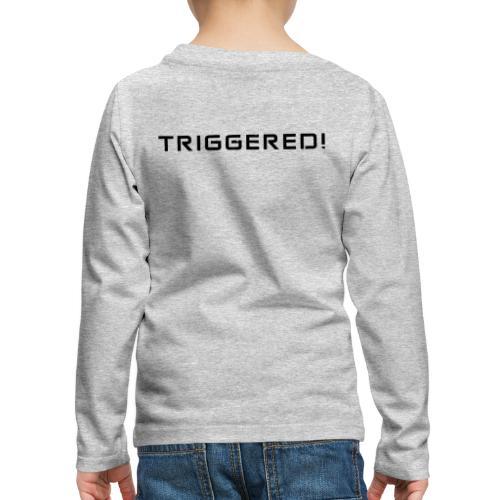 Black Negant logo + TRIGGERED! - Børne premium T-shirt med lange ærmer
