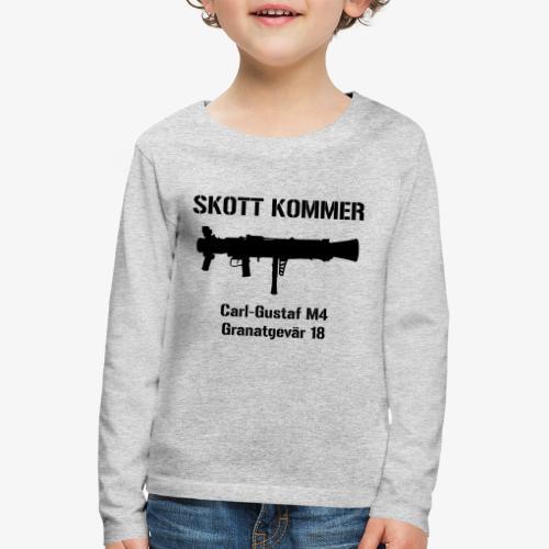 SKOTT KOMMER - KLART BAKÅT - SWE Flag - Långärmad premium-T-shirt barn