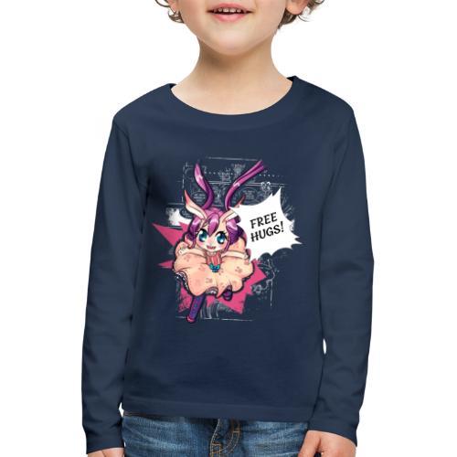 Free hugs (white lines) - Kids' Premium Longsleeve Shirt