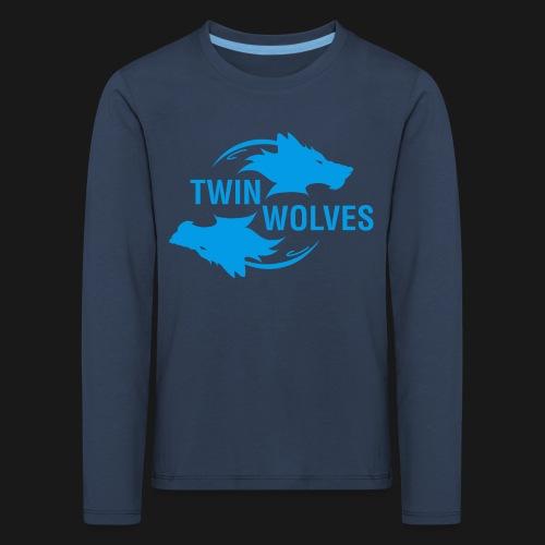 Twin Wolves Studio - Maglietta Premium a manica lunga per bambini