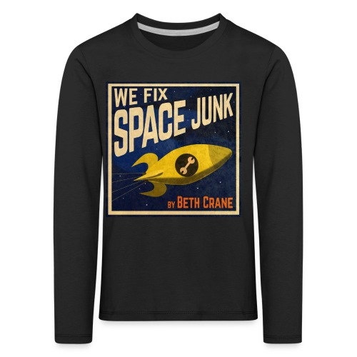 We Fix Space Junk logo (square) - Kids' Premium Longsleeve Shirt