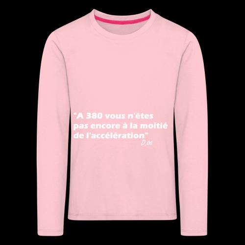380 (blanc) - T-shirt manches longues Premium Enfant