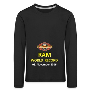 RWR gelb mit Datum (weiß) - Kinder Premium Langarmshirt