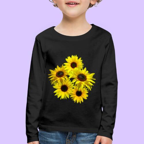 Sonnenblumenstrauss, Sonnenblume, Sonnenblumen - Kinder Premium Langarmshirt