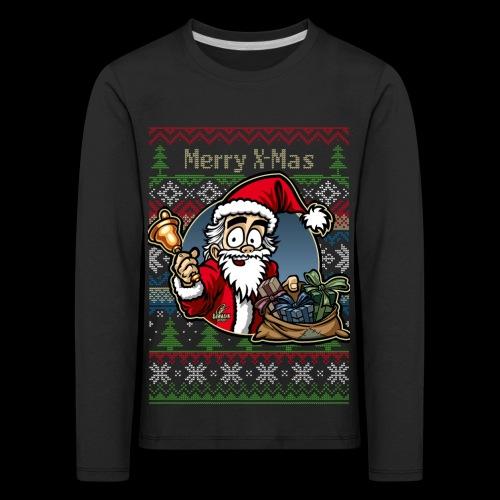 Merry X-Mas Weihnachtsmann - Kinder Premium Langarmshirt