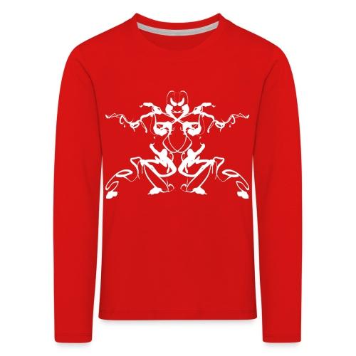 Rorschach test of a Shaolin figure Tigerstyle - Kids' Premium Longsleeve Shirt