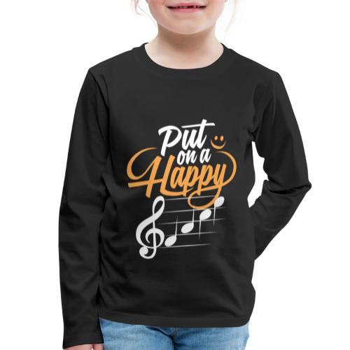 happy face - Kinder Premium Langarmshirt