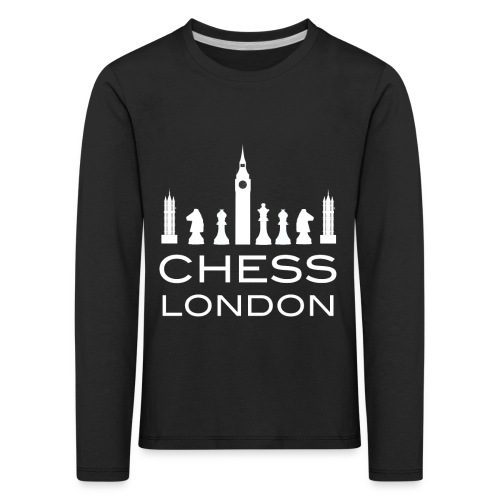 Schach London Weltmeister Schachfigur Geschenk - Kinder Premium Langarmshirt