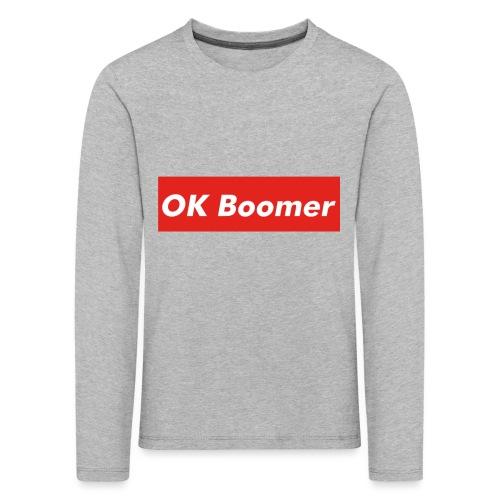OK Boomer Meme - Kids' Premium Longsleeve Shirt