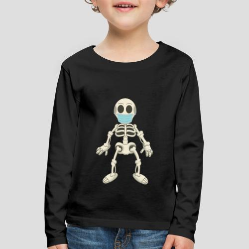 Skelett mit Maske - Virus - Kinder Premium Langarmshirt