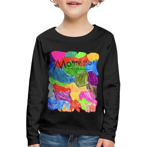Coloured Montessori - Lasten premium pitkähihainen t-paita
