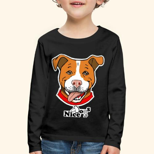 pitbull2 - Maglietta Premium a manica lunga per bambini