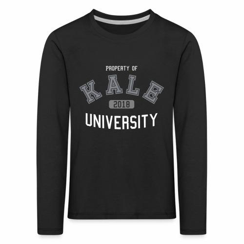 Kale University - Grünkohl Universität - Veganer - Kinder Premium Langarmshirt
