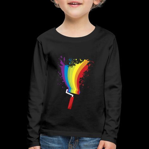 Paint roller Vivid Color - Kinder Premium Langarmshirt