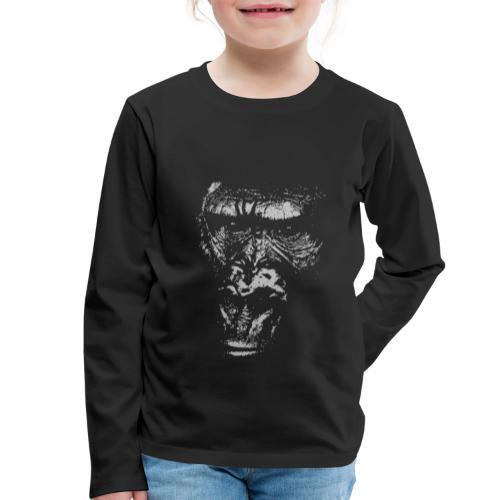Junger Gorilla Silverback Gesicht Affengesicht - Kinder Premium Langarmshirt