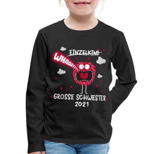 Großer Bruder 2021 lustiges Monster - Kinder Premium Langarmshirt