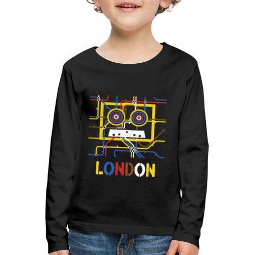 London Tube Map Underground - Kinder Premium Langarmshirt