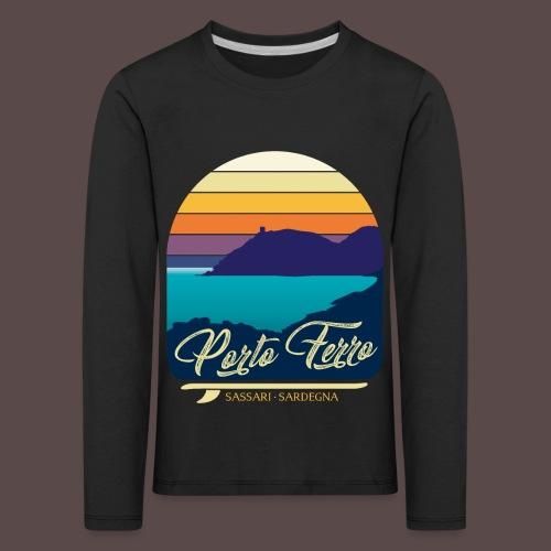 Porto Ferro - Vintage travel sunset - Maglietta Premium a manica lunga per bambini