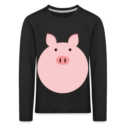Schweinchen Fred - Kinder Premium Langarmshirt