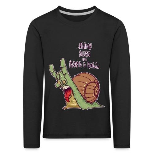 ROCK SNAIL - Koszulka dziecięca Premium z długim rękawem