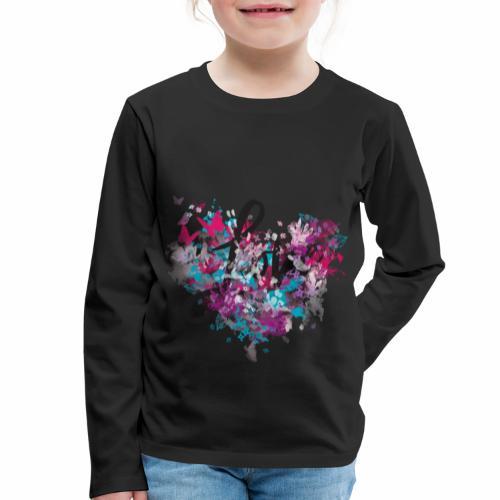 Love with Heart - Kids' Premium Longsleeve Shirt