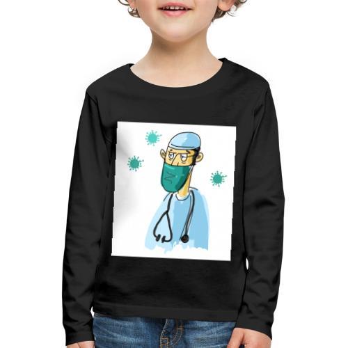 Cartoon Doktor Geschenkidee gezeichnet - Kinder Premium Langarmshirt