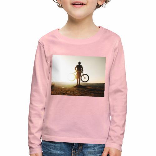 Mountain bike - Långärmad premium-T-shirt barn
