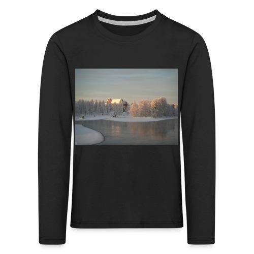 Talvinen Joensuu - Lasten premium pitkähihainen t-paita