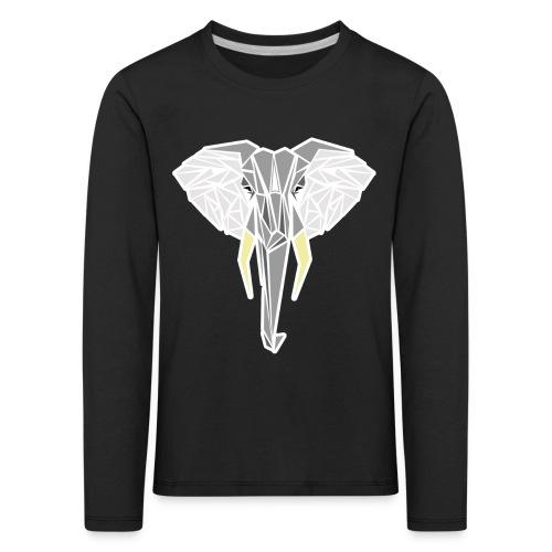 éléphant contour png - T-shirt manches longues Premium Enfant