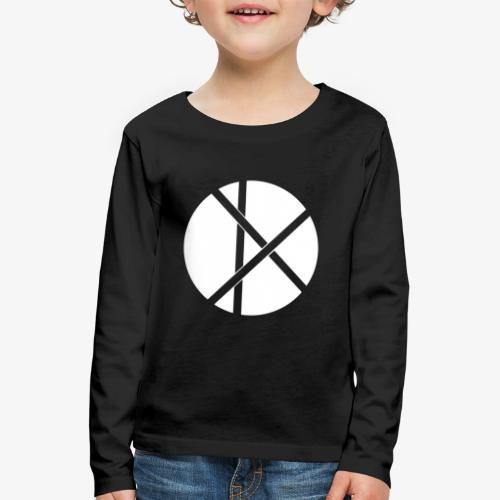 Don Logo - valkoinen - Lasten premium pitkähihainen t-paita