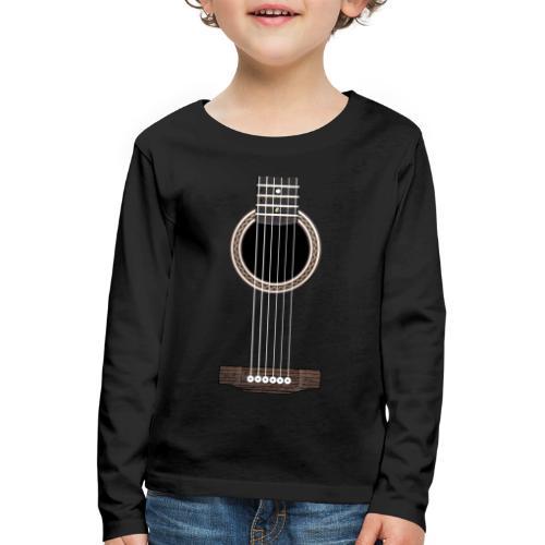 Akustische Gitarre - Kinder Premium Langarmshirt