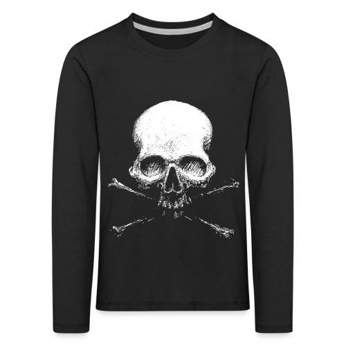 Old Skull - Maglietta Premium a manica lunga per bambini
