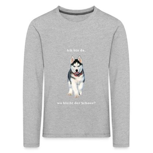 Husky Welpen mit bezaubernden Augen - Kinder Premium Langarmshirt