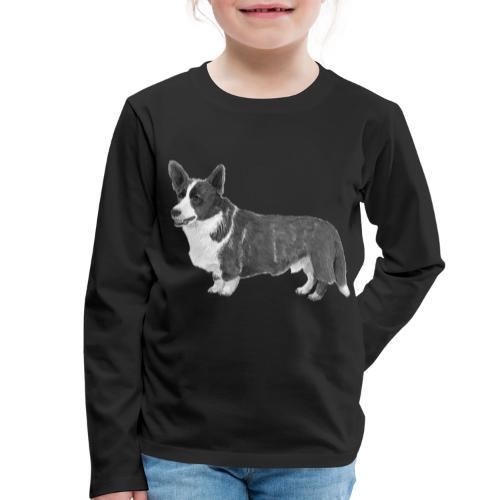 welsh Corgi Cardigan - Børne premium T-shirt med lange ærmer